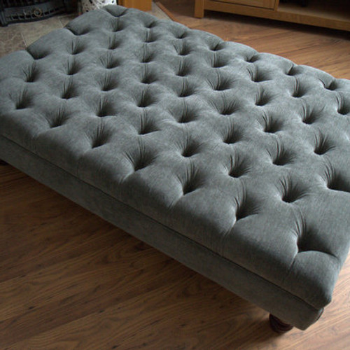 tub chair in silver jumbo cord fabric