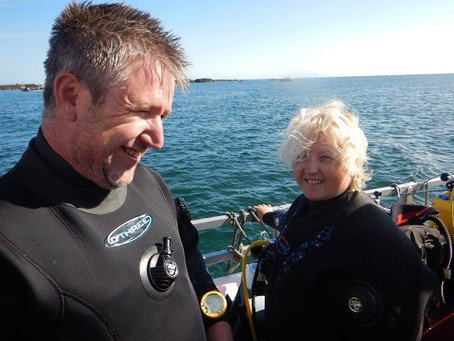 Paul, Sue and Seals too!! Diving the Farne Islands with DiveMania Scuba