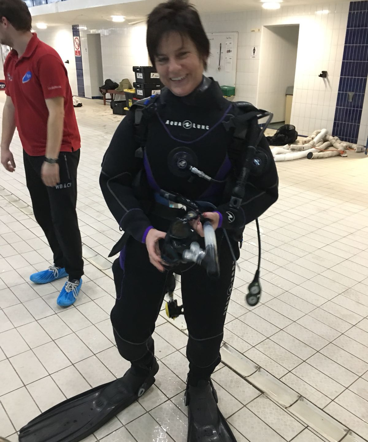 Debbie does Drysuit