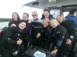 The girls at the Farnes