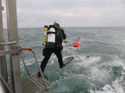Giant stride - UK diving