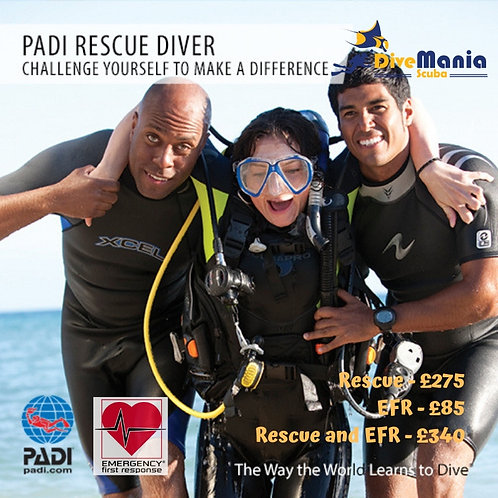PADI Rescue Diver Course & Emergency First Response