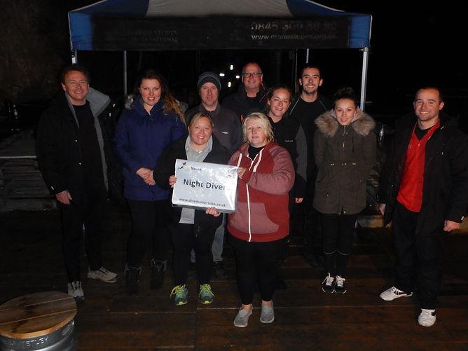 PADI Night Divers with DiveMania Scuba