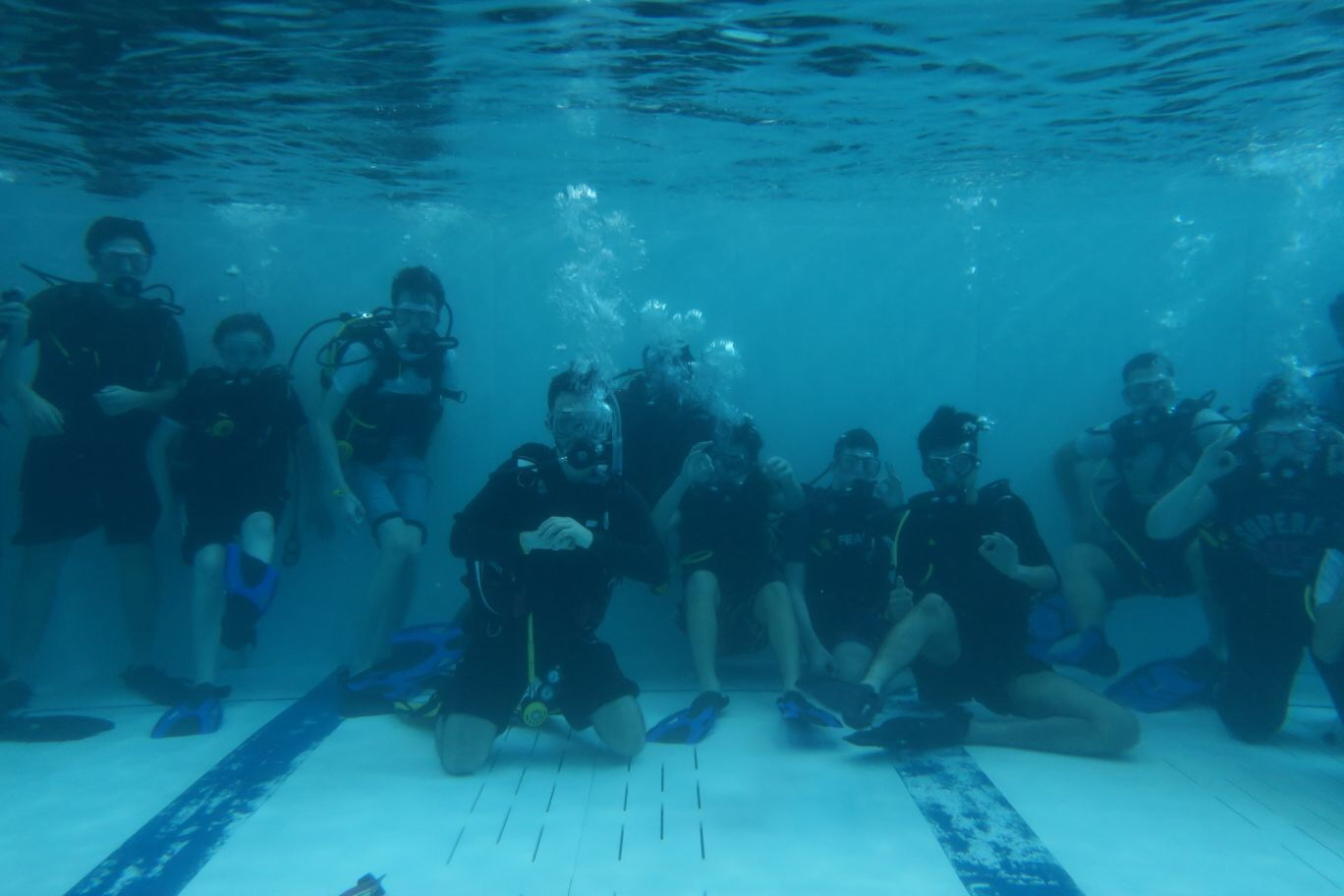 Scout Group Discovering Scuba