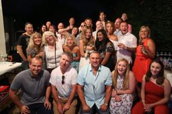 Summer BBQ crowd