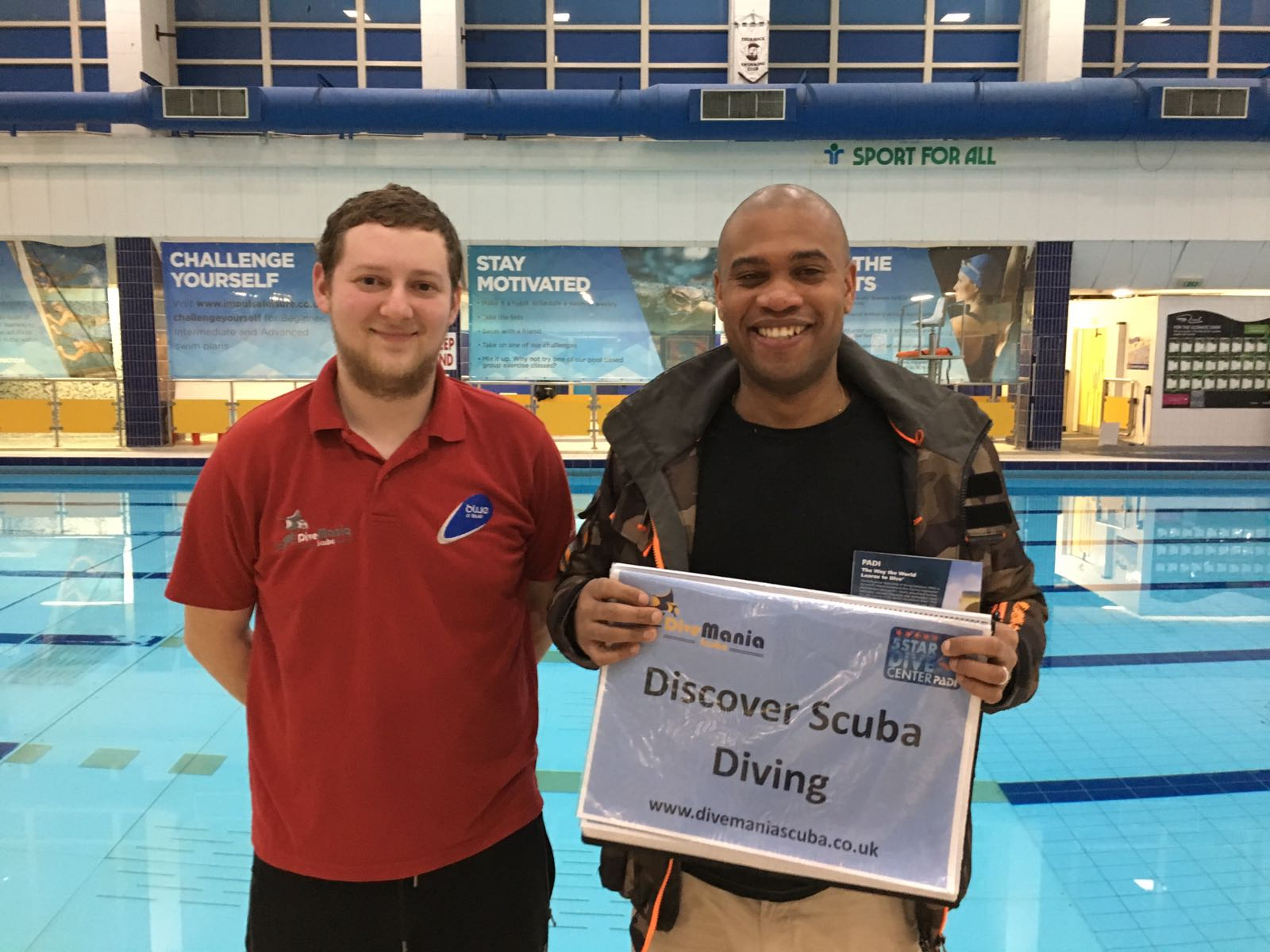 Discover Scuba for Aaron with Jamie