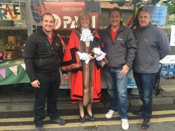 With the Mayoress of Rainham