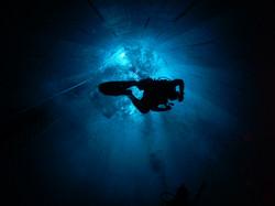 Diver decending at Nemo33