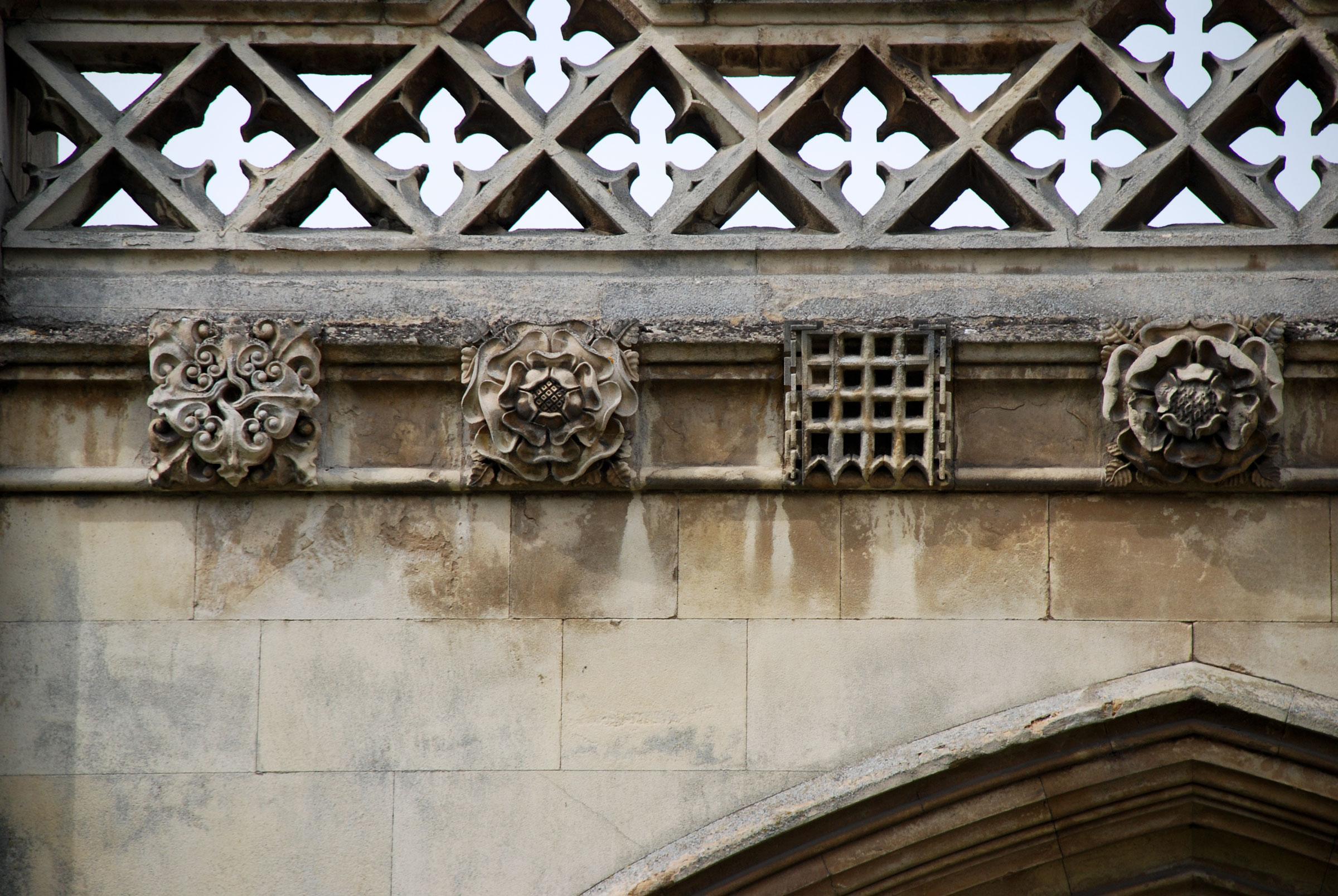 Repaired original carving