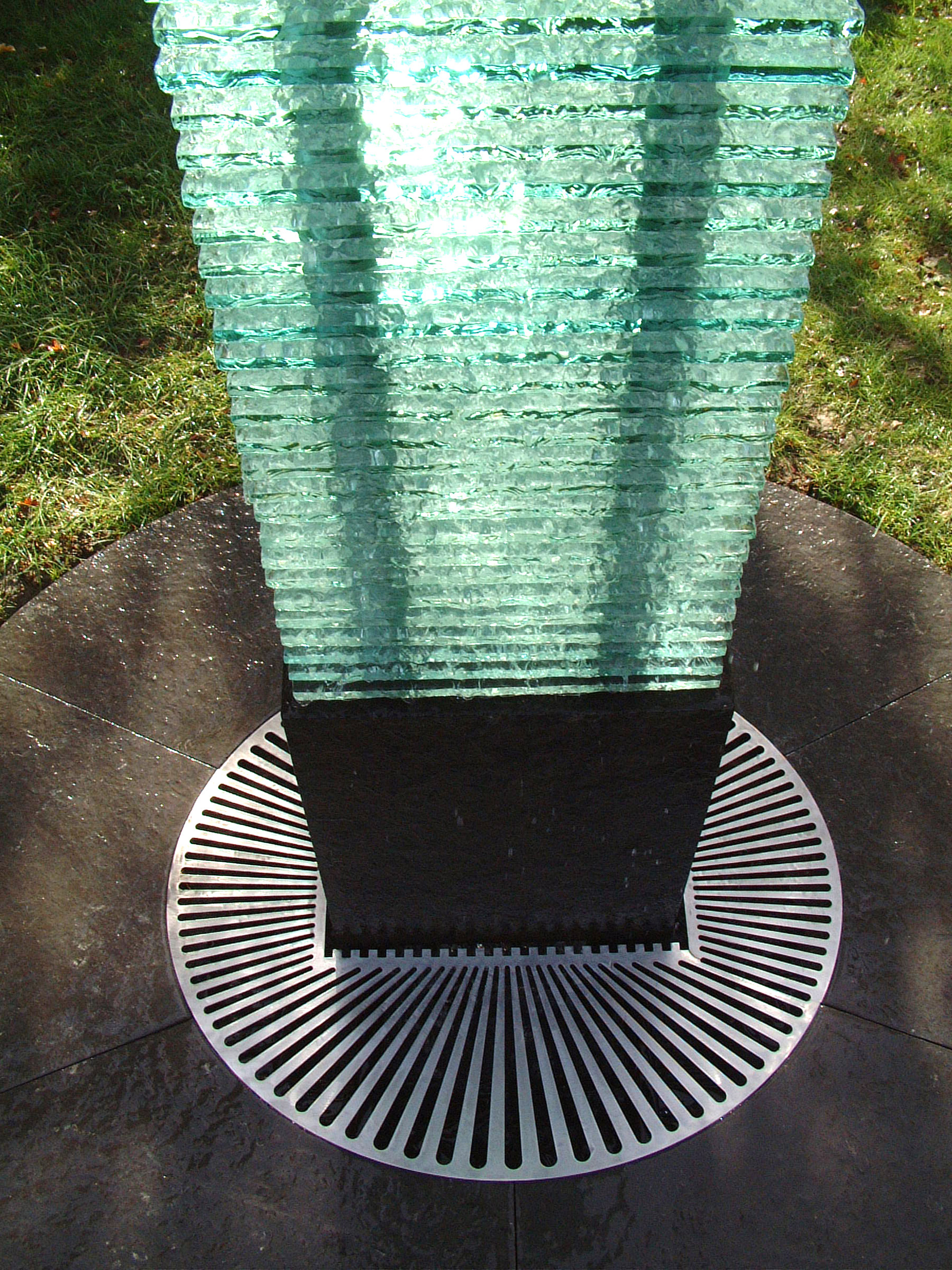 Stacked Glass Water Feature