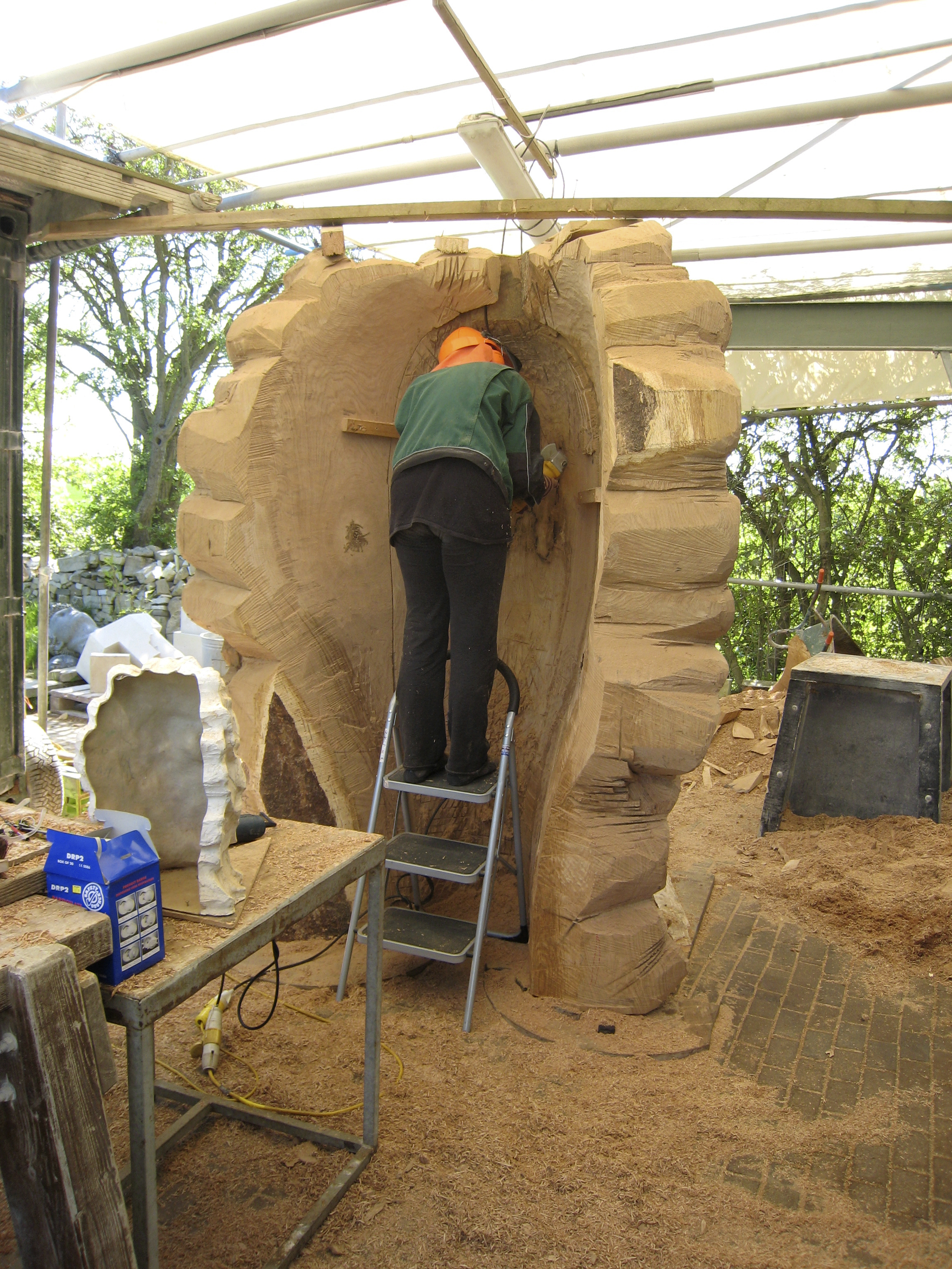 Anya hollowing the back out