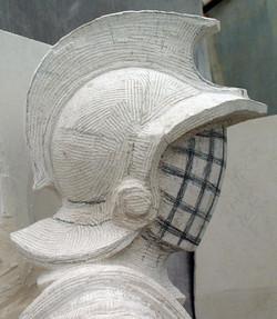 Gladiator helmet roughed in