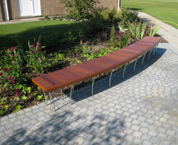 Floating Rod Bench