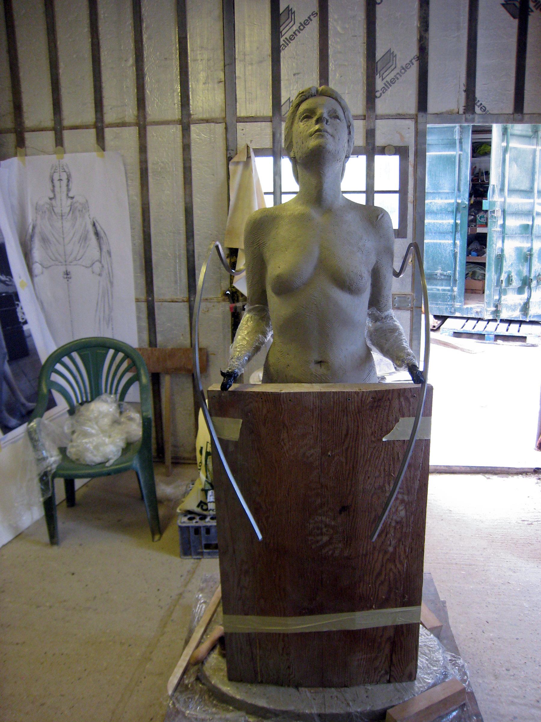 Clay maquette