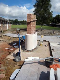 portland & brick column