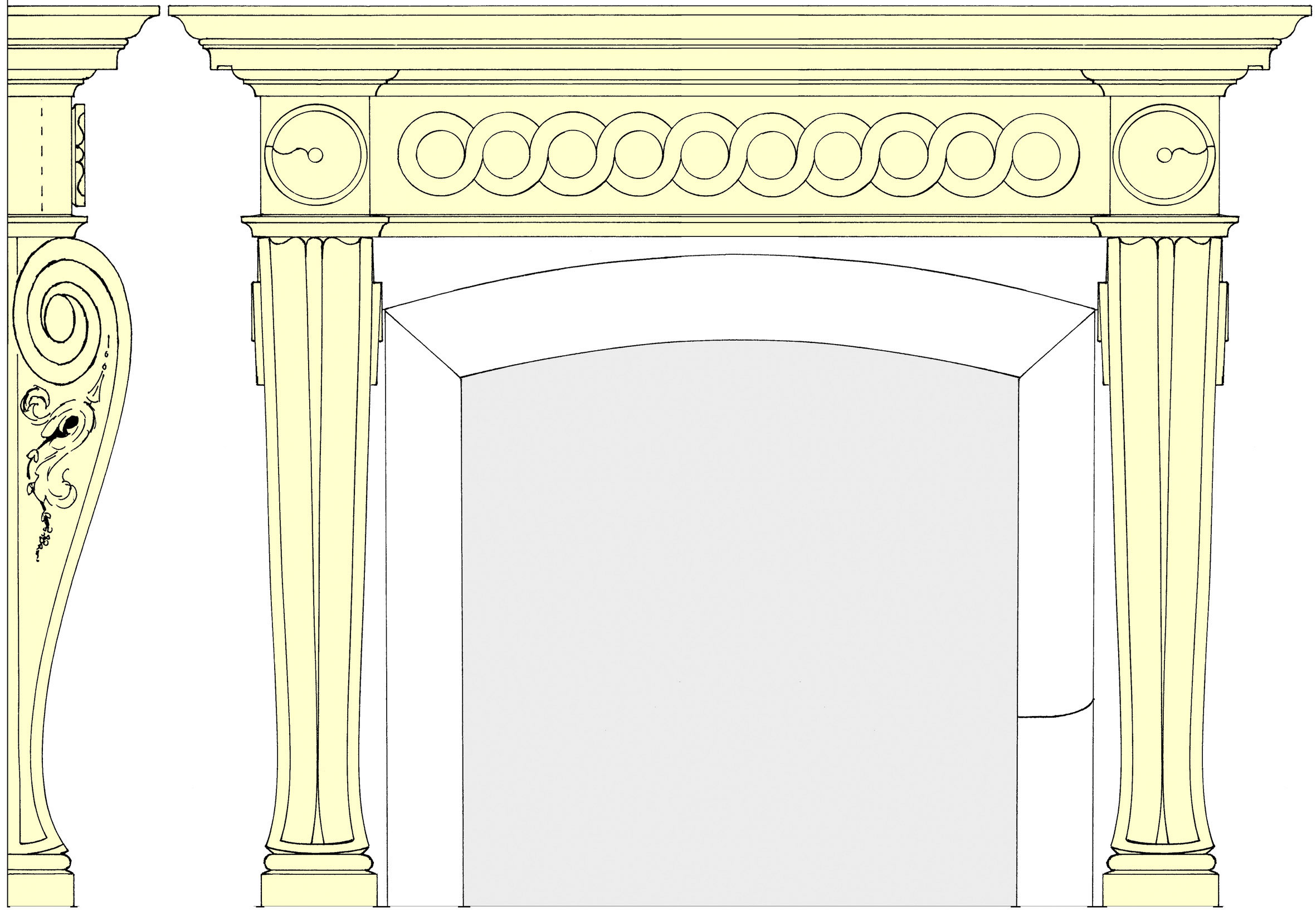 Main entrance fireplace