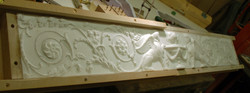 Carving part way through