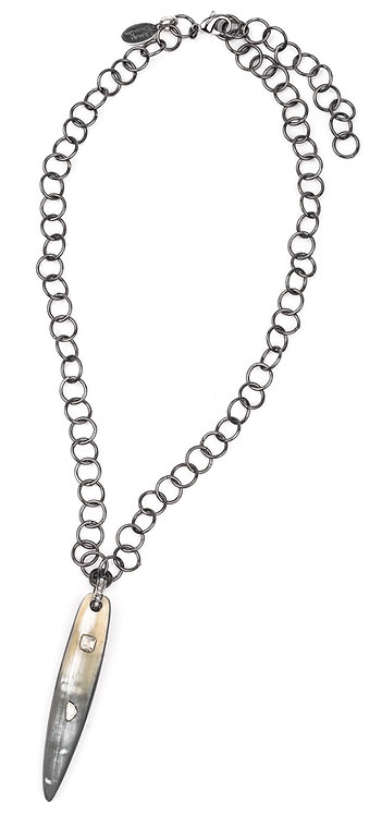 Natural Horn Sliced Diamond Necklace