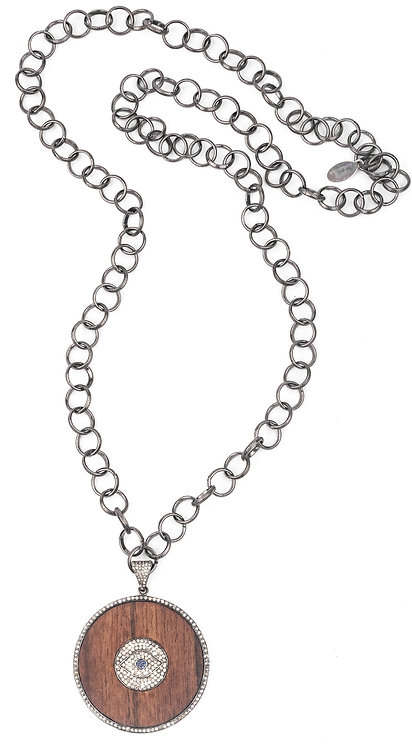 Sparkling Diamond All-Seeing Eye Necklace