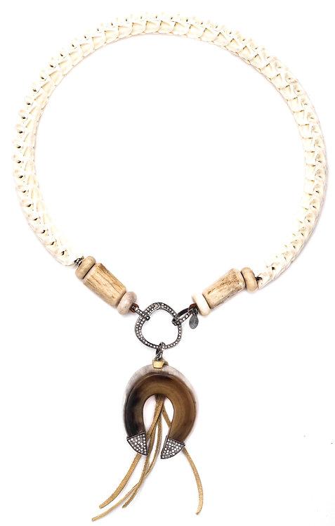 Diamond Horn Snake Vertebrae Necklace