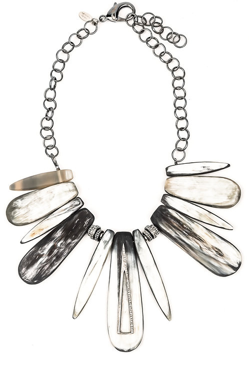 Natural Horn Modern Diamond Necklace