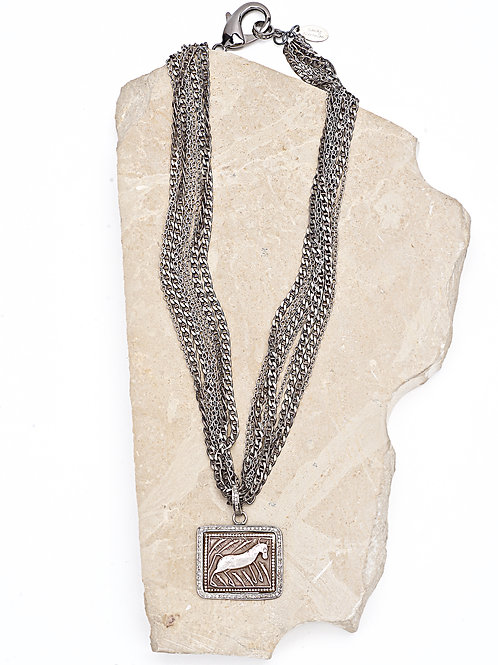 Antique Diamond Amulet Multi Chain Necklace