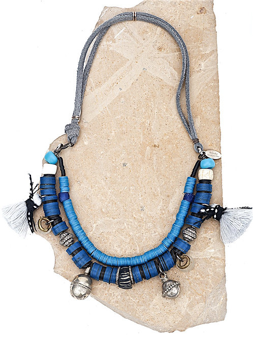 Moroccan Diamond Antique Bead Necklace