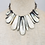 Thumbnail: Natural Carved Horn Diamond Statement Necklace