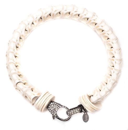 Diamond Snake Vertebrae Bracelet