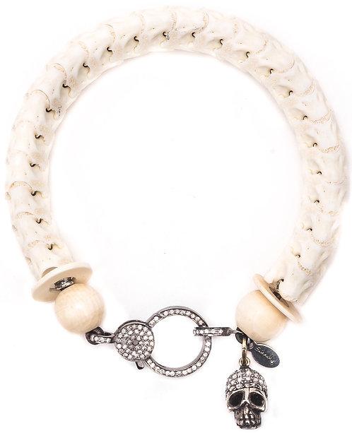 Diamond Skull Snake Vertebrae Bracelet