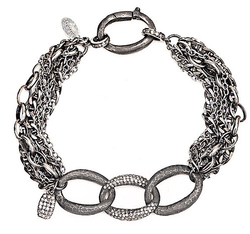 Diamond Link Multi Chain Bracelet