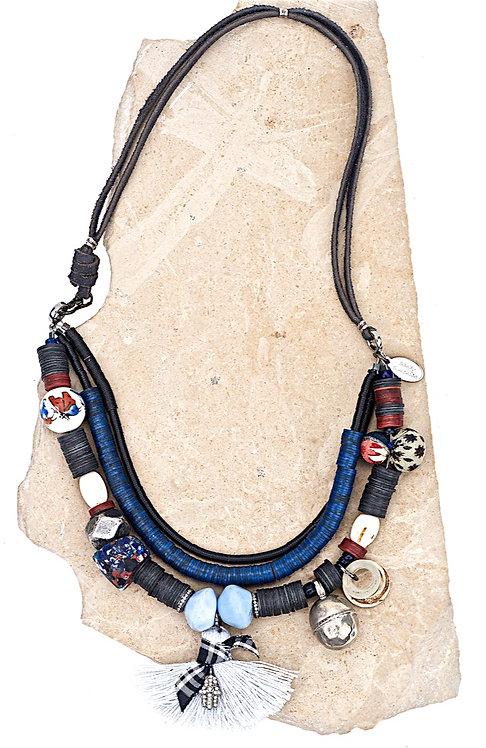 Moroccan Diamond Antique Bead Necklace