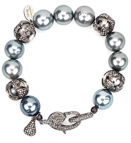 Tahitian Pearl Diamond Clasp Bracelet
