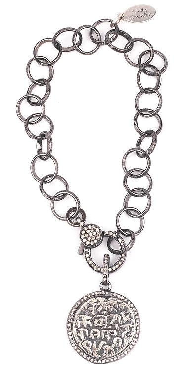 Ancient Diamond Coin Bracelet