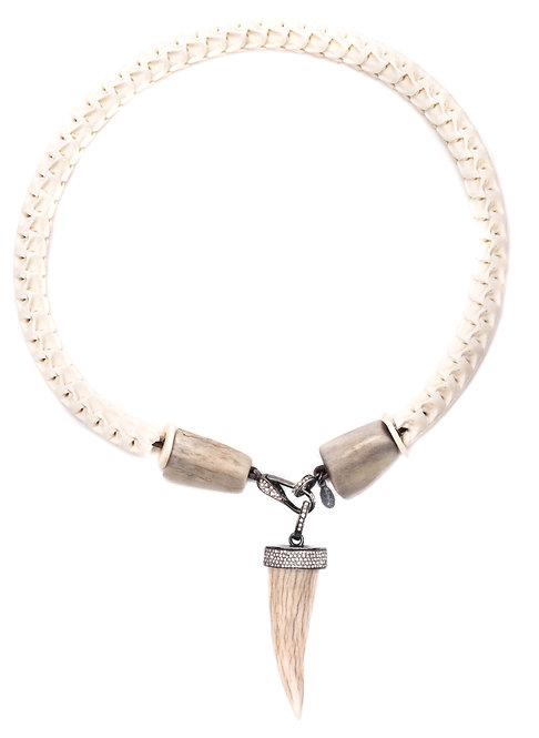 Diamond Antler Snake Vertebrae Necklace