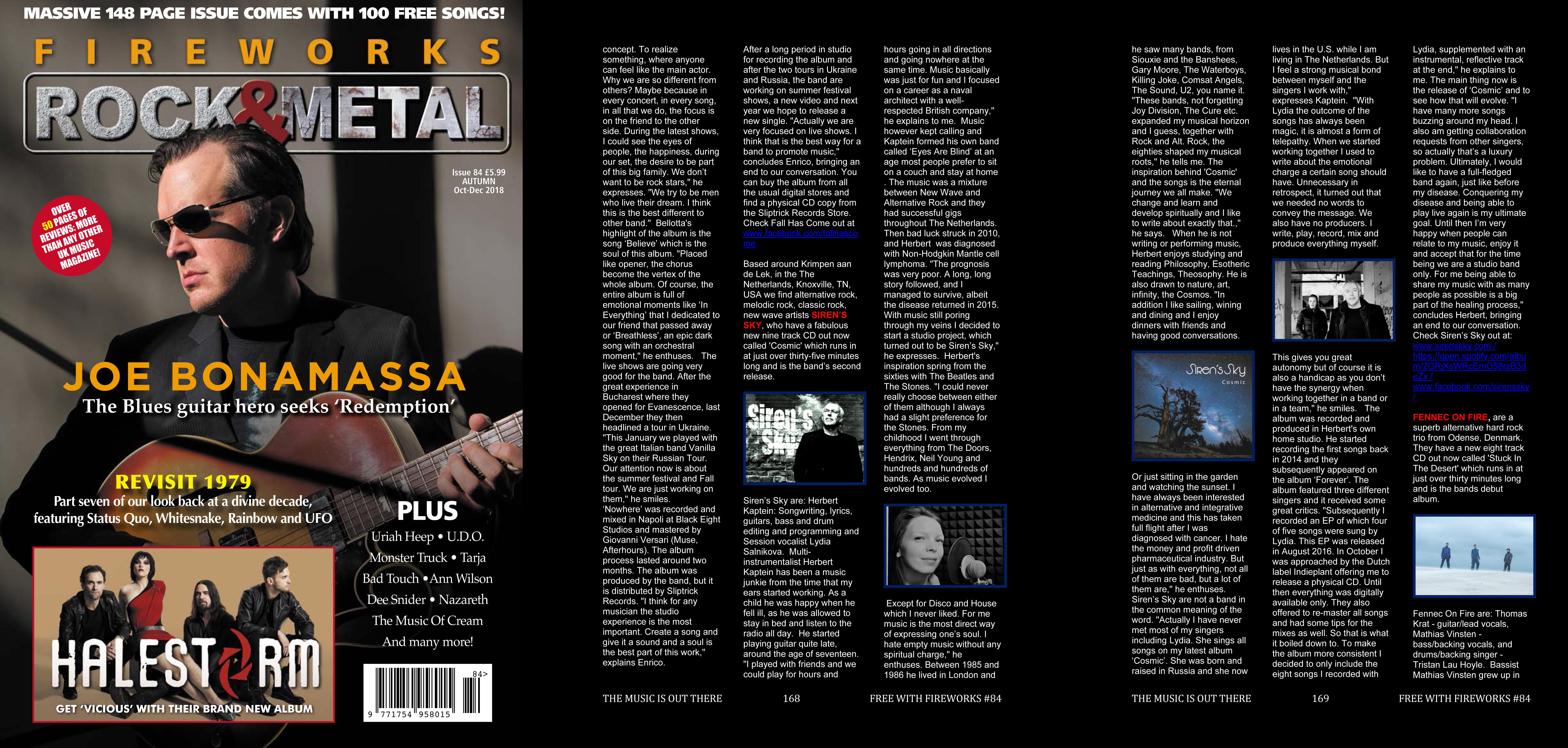 Siren's Sky Interview in UK Melodic Rock/Metal Fireworks
