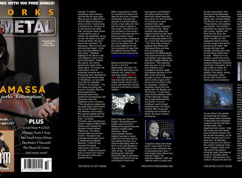 Siren's Sky Interview in UK Melodic Rock/Metal Fireworks Magazine.