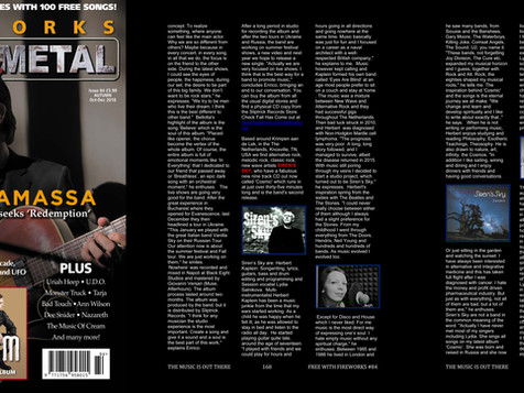 Siren's Sky Interview in UK Melodic Rock/Metal Fireworks Magazine.