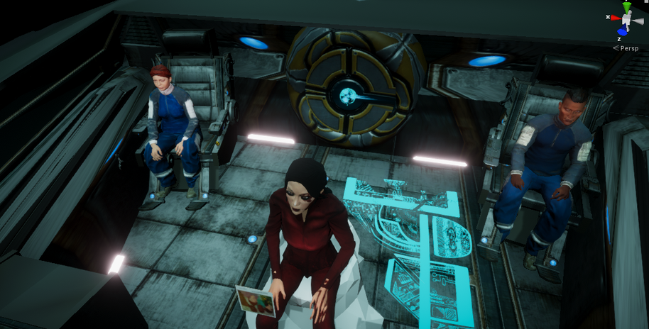 Dani, Faraday, and Thomas as the investigation begins