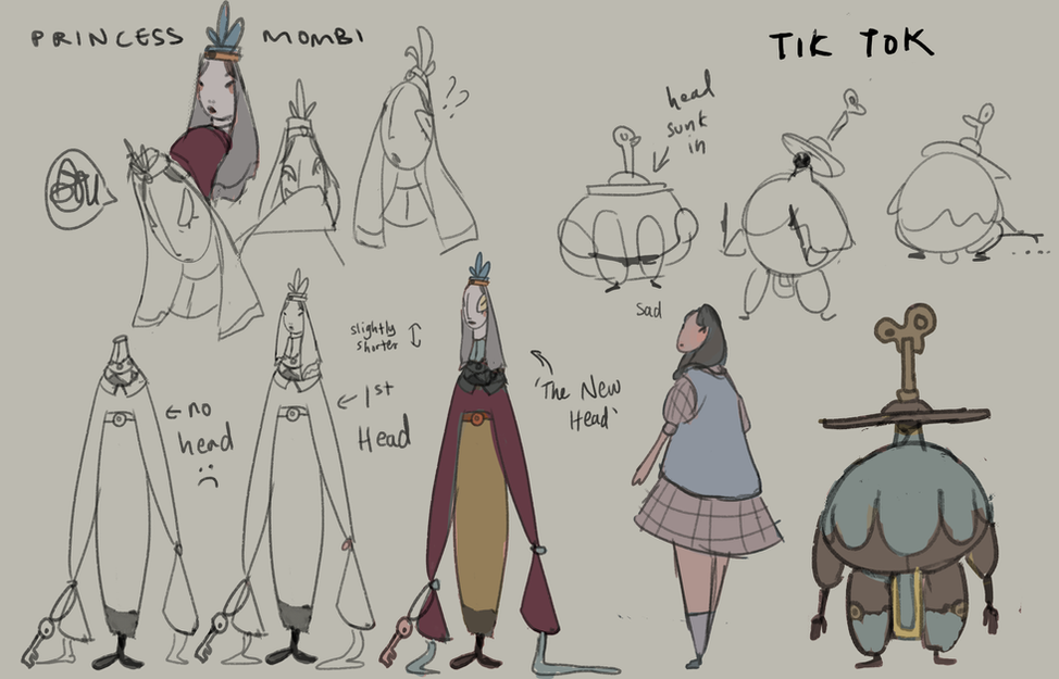 initial character sketches