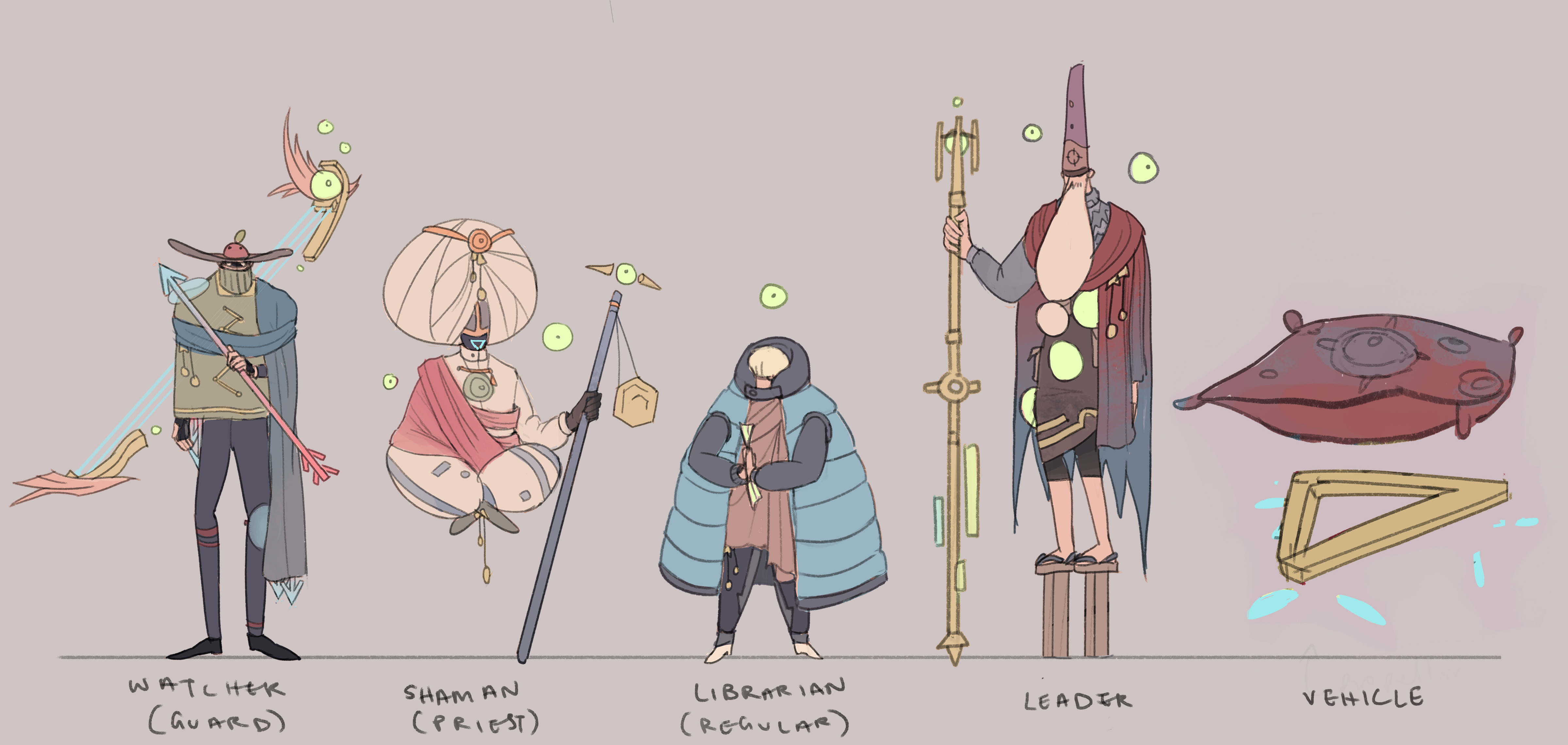 character lineup (cult people)