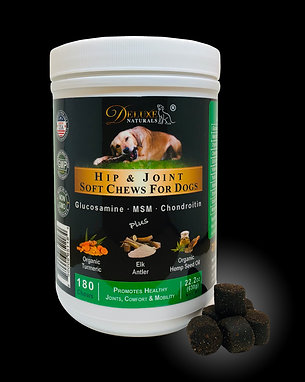 Deluxe Naturals Hip & Joint Soft Chews For Dogs - 180 Chews