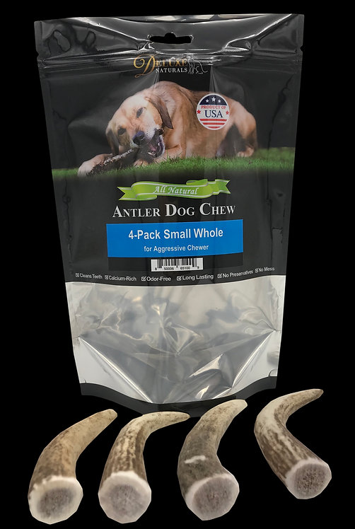 4-Pack Small Whole Elk Antler Dog Chews