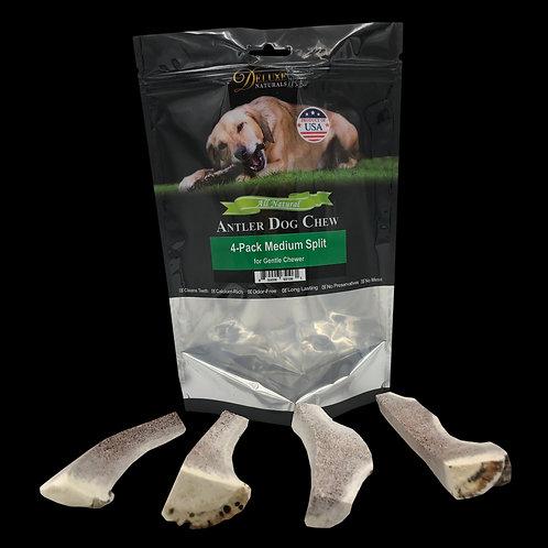 4-Pack Medium Split Elk Antler Dog Chews