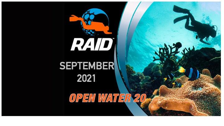 Open Water 20 (Level 1) Two Weekends