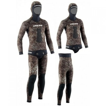 Cressi Tracina 3.5mm 2-Piece Freediving Wetsuit - Mens