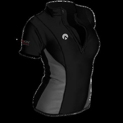 Sharkskin Chillproof Short Sleeve Chest Zip - Womens
