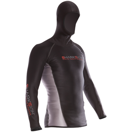 Sharkskin Chillproof Long Sleeve With Hood - Mens
