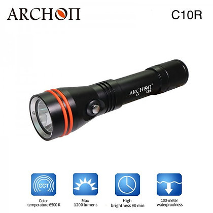 Archon C10R Rechargeable Dive Torch - Black