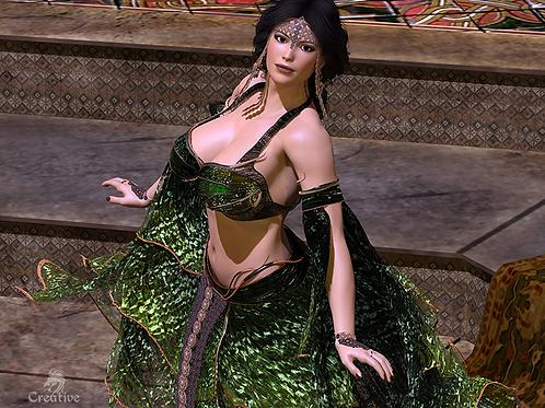 """Emerald Dancer"" Canvas Print"